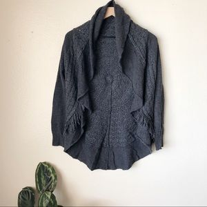 Anthropologie | Fringed Circle Cardigan